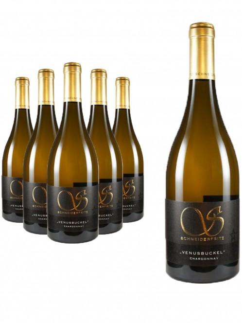 6 Flaschen Chardonnay trocken Billigheimer Venusbuckel - Schneiderfritz