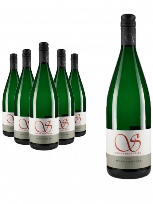 6 Flaschen Morio-Muskat feinherb - Schneiderfritz