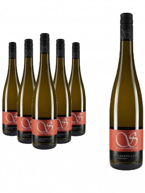 6 Flaschen Muskateller trocken - Schneiderfritz -