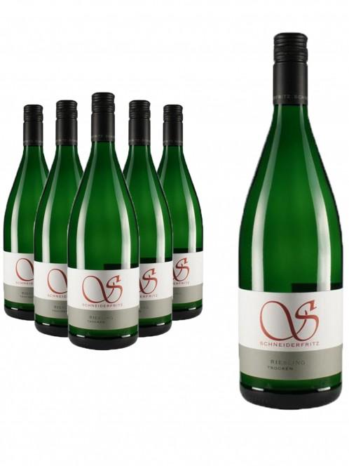 6 Flaschen Riesling trocken - Schneiderfritz