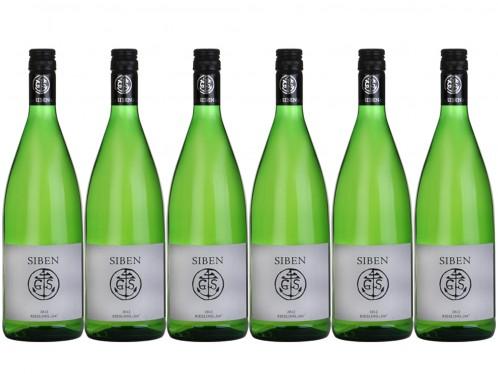 6 Flaschen Georg Siben Erben siben Riesling 1er