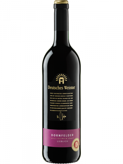 Dornfelder Rotwein lieblich - Deutsches Weintor -