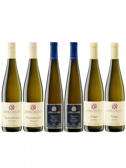 6 Liebliche Weißweine - Anselmann