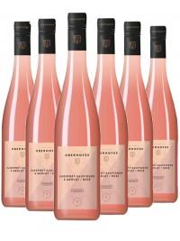 6 Flaschen Cabernet Sauvignon & Merlot rosé trocken - Oberhofer