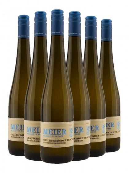 6 Flaschen Grauer Burgunder Kalkmergel trocken - Val. Ziegler