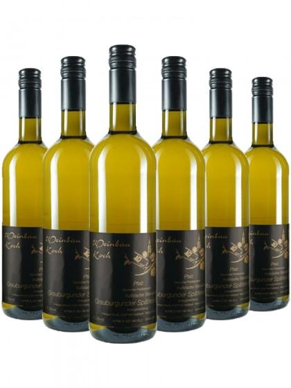 6 Flaschen Koch Steinacker Grauburgunder Spätlese trocken