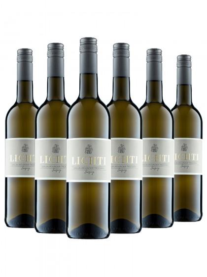 6 Flaschen Grauburgunder trocken - Burgweg - Lichti