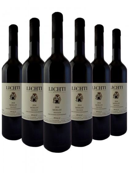 6 Flaschen Merlot trocken - Lichti