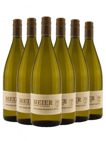 6 Flaschen Rivaner Q.b.A. feinfruchtig - Meier