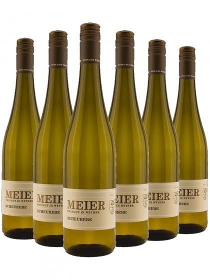 6 Flaschen Scheurebe lieblich - Meier