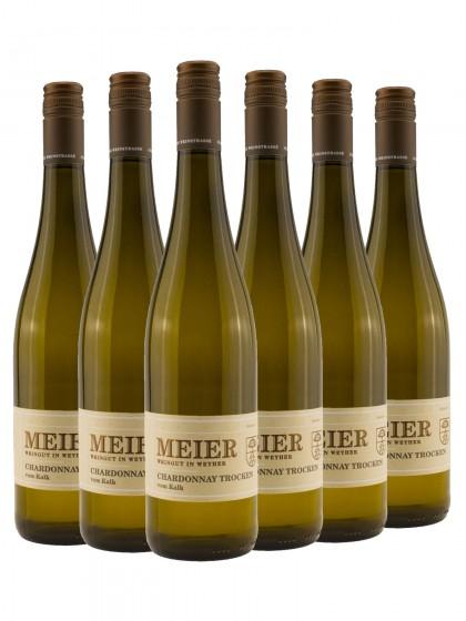 6 Flaschen Chardonnay vom Kalk trocken - Meier