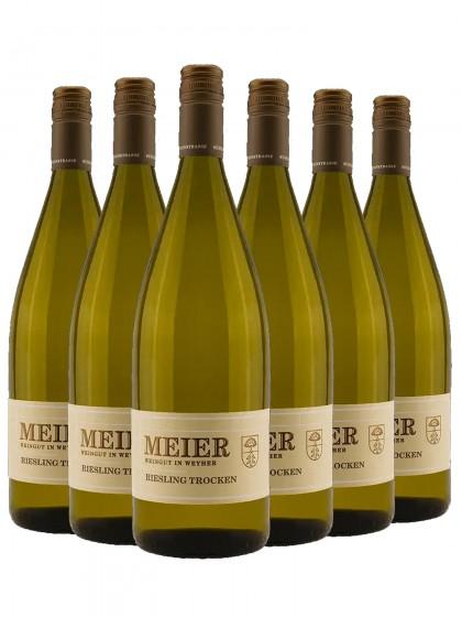 6 Flaschen Riesling trocken - Meier -