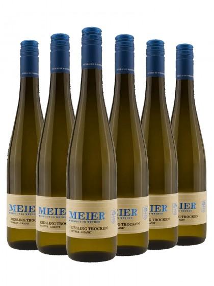 6 Flaschen Georg Meier Riesling trocken Granit