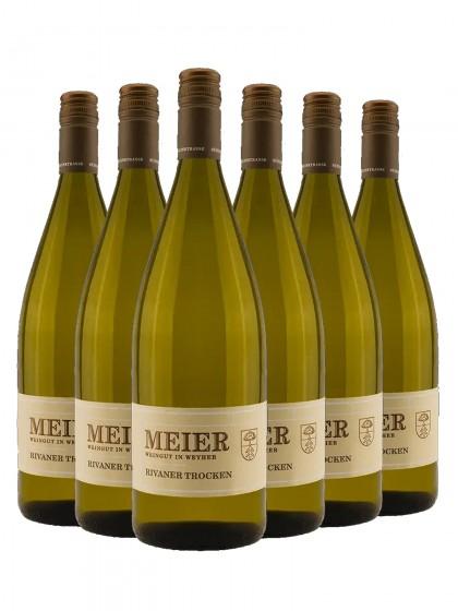 6 Flaschen Rivaner Q.b.A. Trocken - Meier
