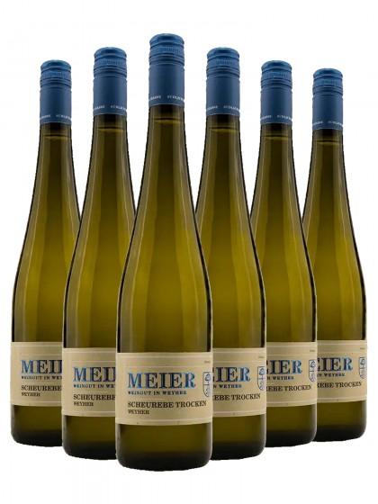 6 Flaschen Scheurebe trocken - Meier (ex. Val. Ziegler)