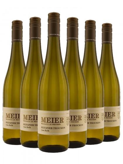 6 Flaschen Silvaner vom Kalk trocken - Meier