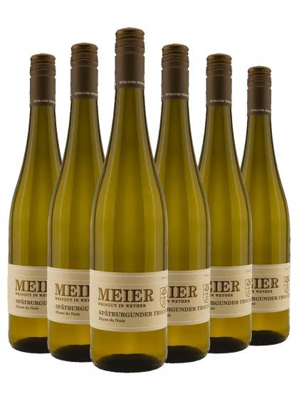 6 Flaschen Spätburgunder Blanc de Noir trocken - Val. Ziegler