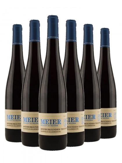 6 Flaschen Spätburgunder trocken Hainfelder -Kalkmergel - Val. Ziegler