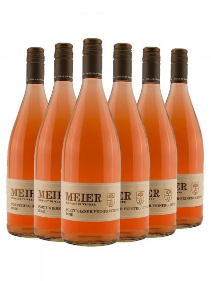 6 Flaschen Portugießer Rose feinfruchtig