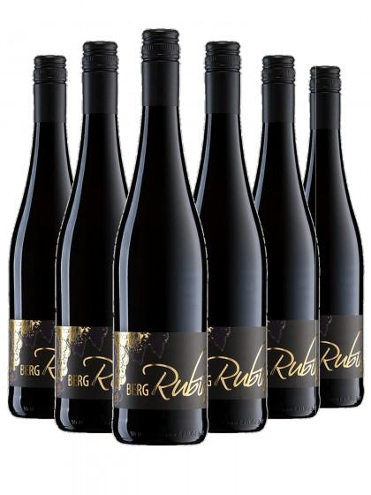 6 Flaschen Bergrubin Rotwein trocken