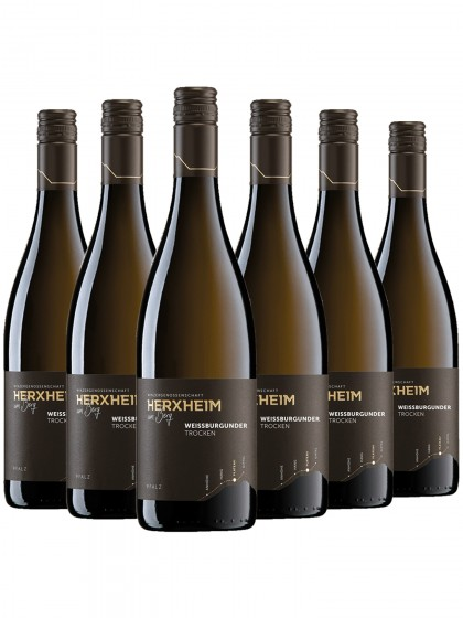 6 Flaschen Herxheimer Kirchenstück Weissburgunder Trocken