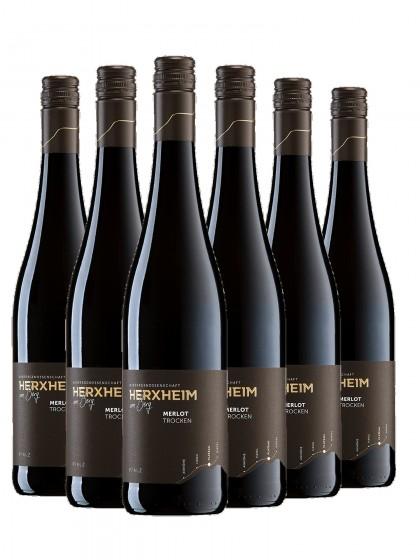 6 Flaschen Merlot Rotwein trocken