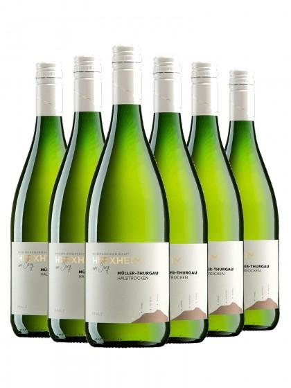 6 Flaschen Mueller-thurgau halbtrocken 1l