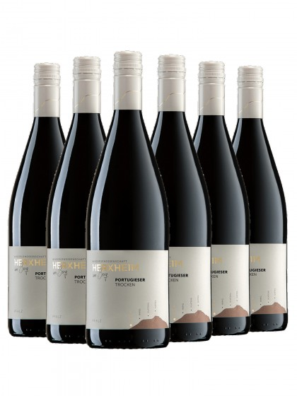 6 Flaschen Portugieser Rotwein trocken 1L