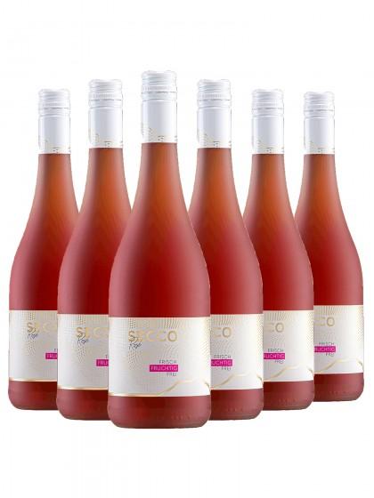 6 Flaschen Secco Rose