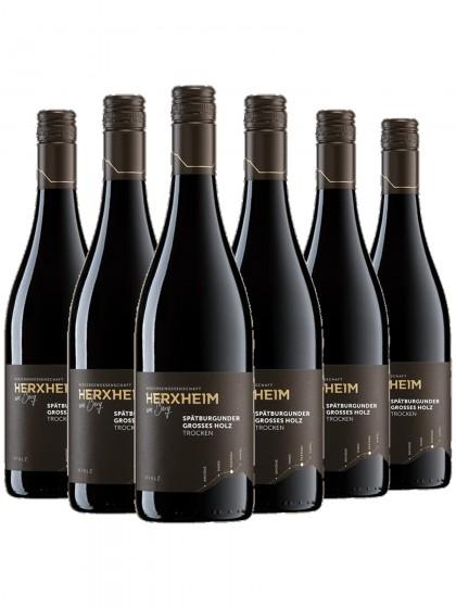 6 Flaschen Spätburgunder Grosses Holz Rotwein