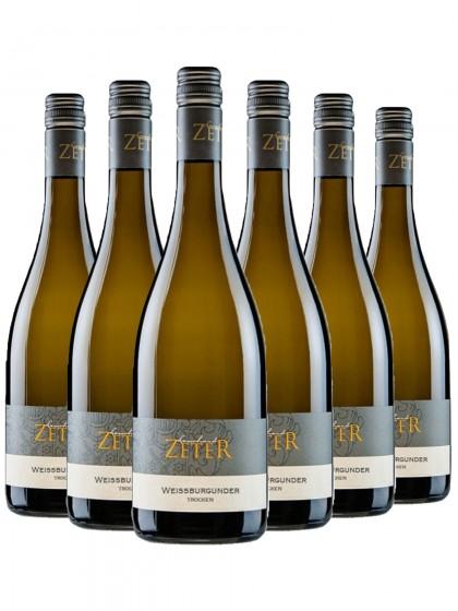 6 Flaschen Weissburgunder trocken - zeter
