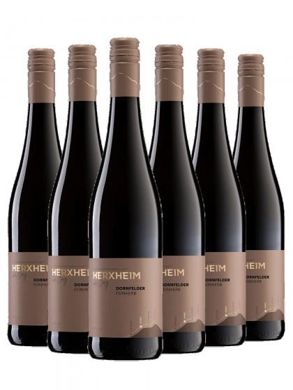 6 Flaschen Dornfelder Rotwein feinherb