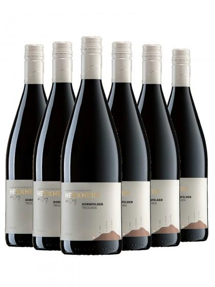6 Flaschen Dornfelder Rotwein trocken 1L