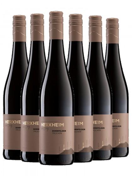6 Flaschen Dornfelder Rotwein trocken