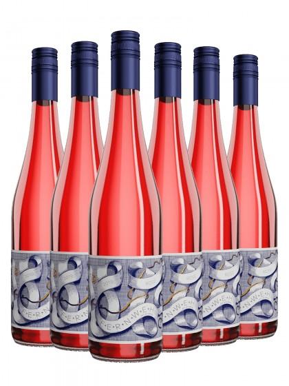 6 Flaschen FERNWEH Rose halbtrocken