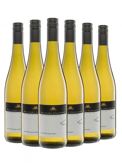 6 Flaschen Grauburgunder Qualitätswein trocken - Pfaffmann -