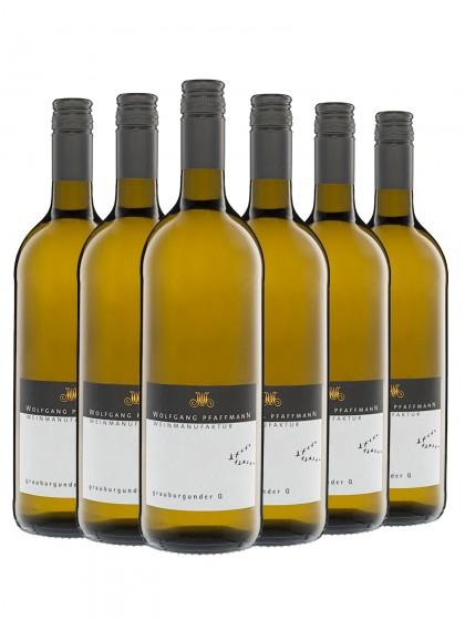 6 Flaschen Grauburgunder trocken - Pfaffmann -