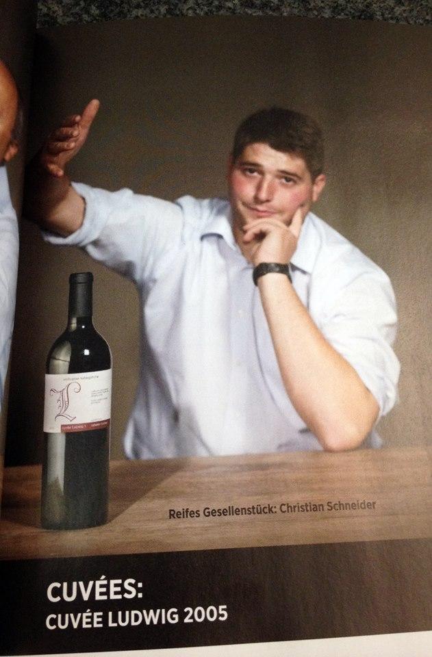 """als """"reifes Gesellenstück"""" bezeichnet die Zeitschrift Vinum den Cuvée Ludwig I. von Christian Schneider"""