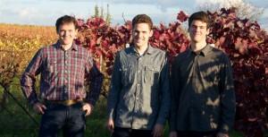 Martin Bangerth mit den Söhnen Johannes und Philipp